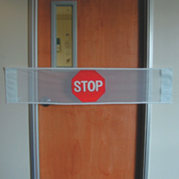 Posey Door Guard With Stop Sign And Velcro Attachment