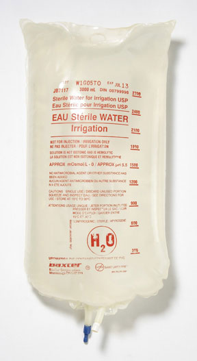 Sterile Water For Cbi Irrigation Solution 3000ml Bag Usp