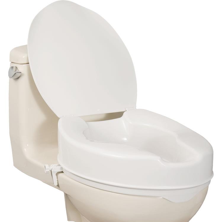 Aquasense Raised Toilet Seat With Lid 4 171 Medical Mart