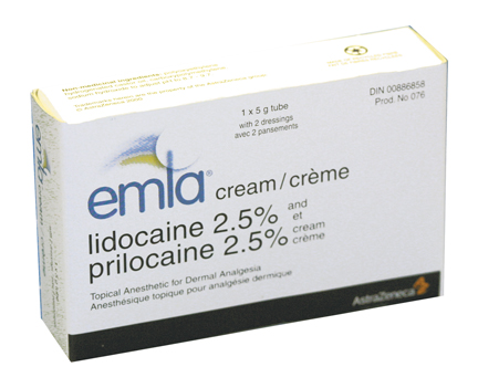 emla cream application instructions