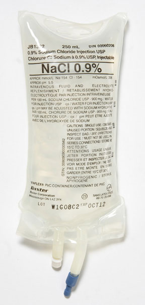 Normal Saline 0 9 Sodium Chloride 250ml Bag For Injection