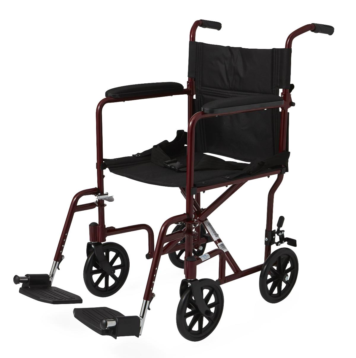 Transport Wheelchair 19 Seat Width W Four 8 Wheels And