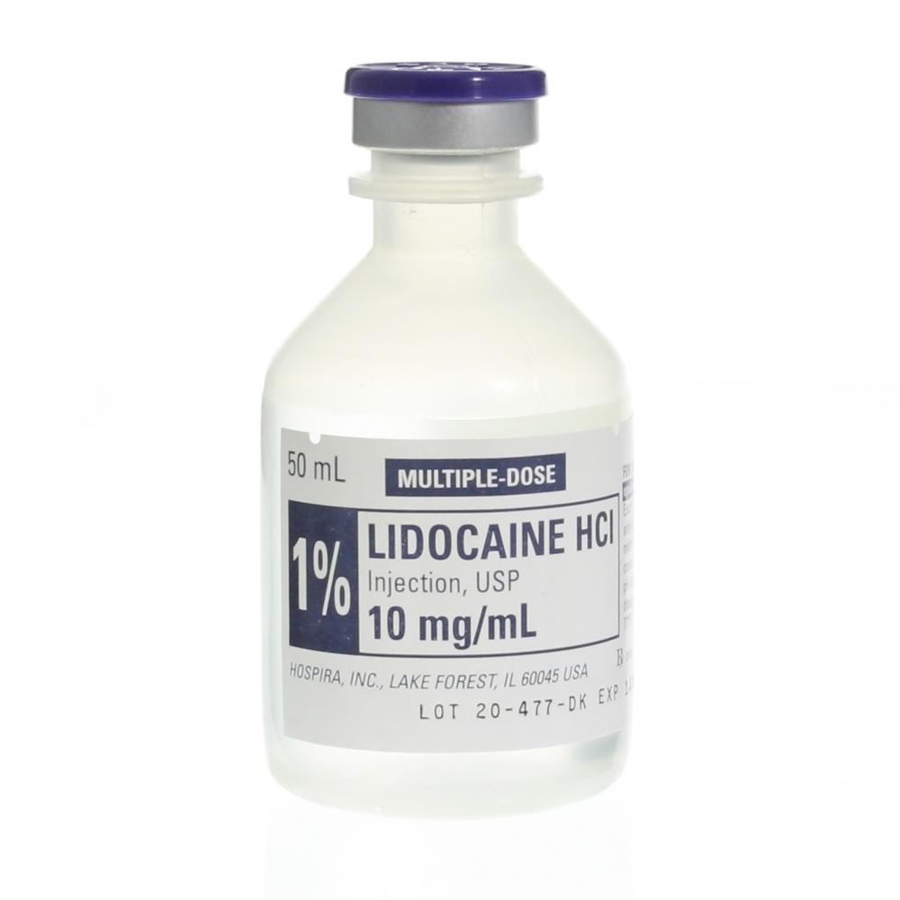 Lidocaine Hci Injection 1 Plain With Preservative 50ml