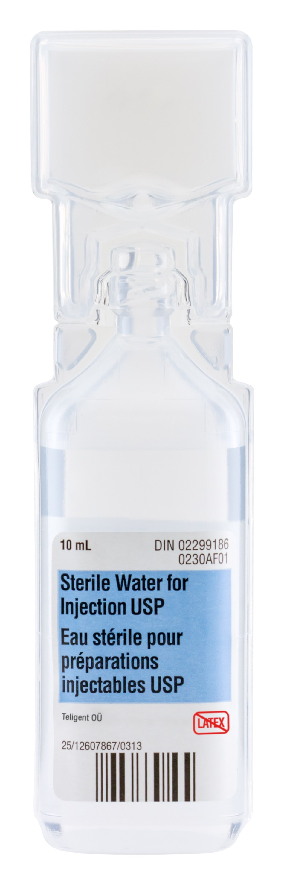 Sterile Water For Injection Usp 10ml Luer Lock Plastic