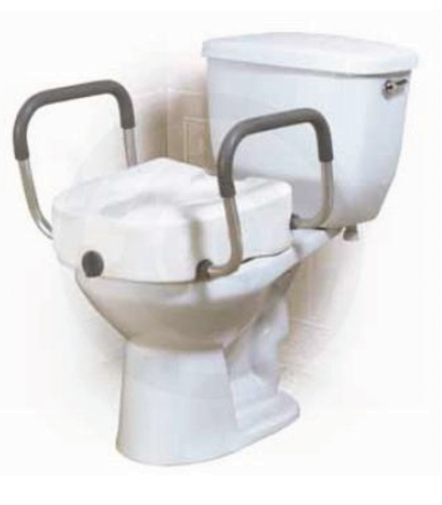 Phenomenal Raised Toilet Seat W Arm Clamp On Medical Mart Uwap Interior Chair Design Uwaporg