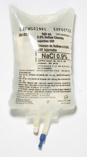 NORMAL SALINE 0.9% SODIUM CHLORIDE 500ML BAG FOR INJECTION USP