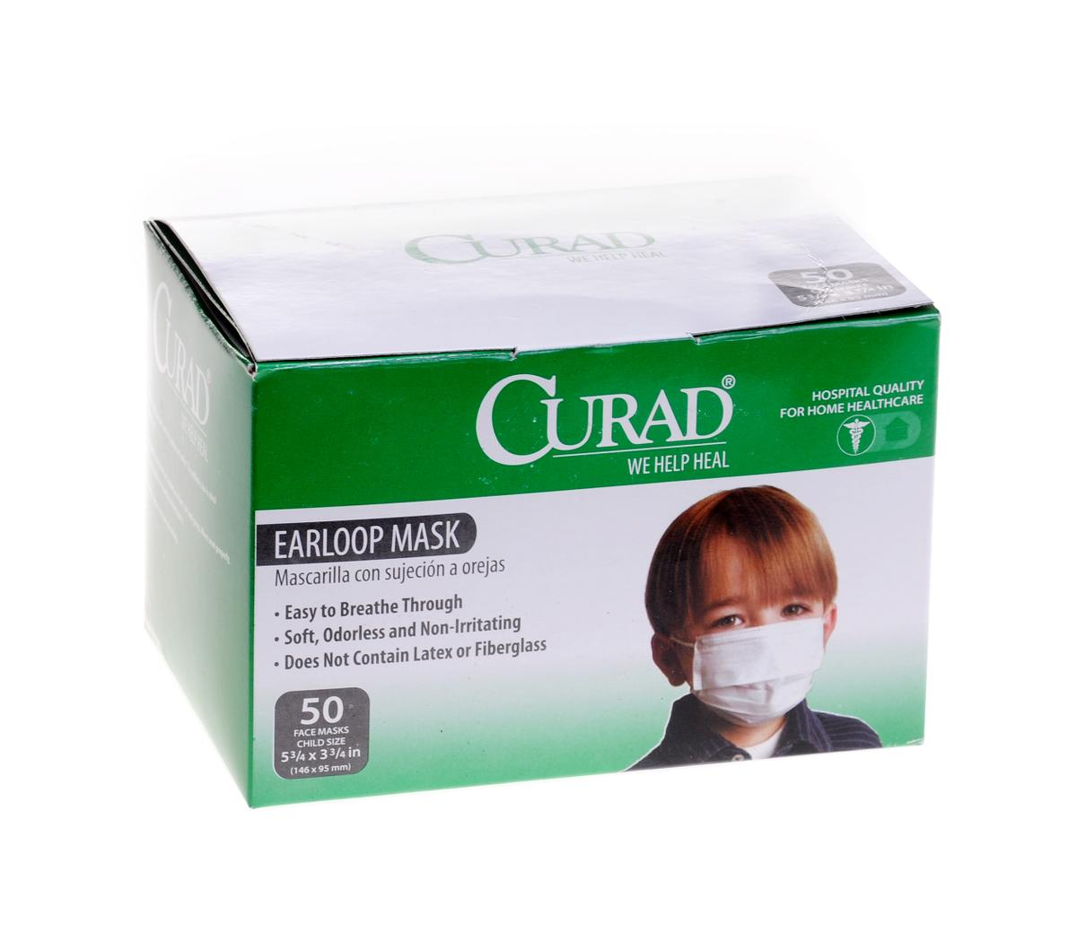 Curad Child Size Face Mask With Earloops White 171 Medical Mart