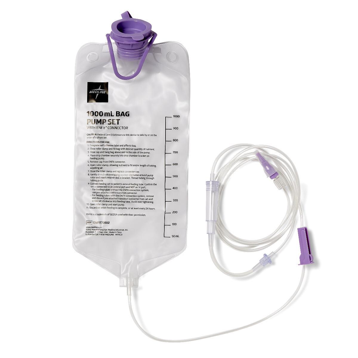 Entraflo Formerly Compat Enteral Feed 1l Bag Pump Set W