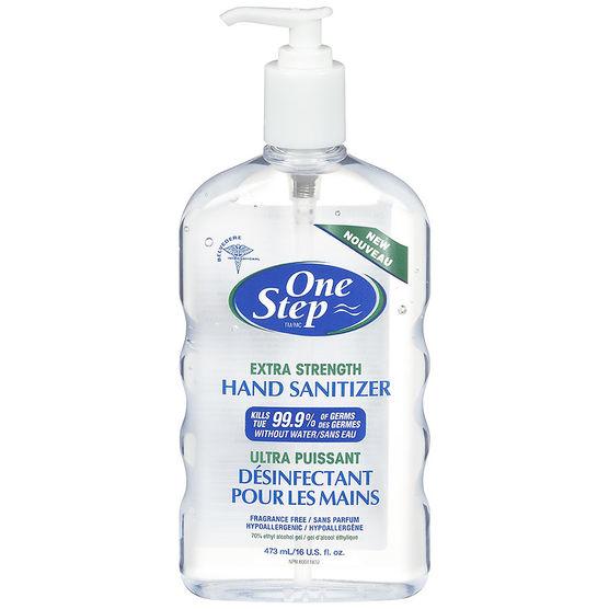 One-step Alcohol Hand Sanitizer Gel Fragrance Free 473ml Pump Bottle